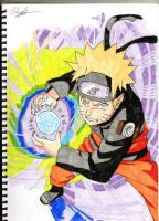 Naruto Rasengan coloured by AnbuPhil