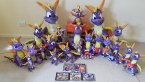 Entire Classic Spyro the Dragon Plush Collection by frozendragonflames