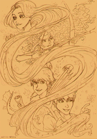 The Big Four Seasons(Sketch) by loveHinaSasu