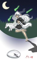 Danny Phantom yokai, kitsune 1 by The-Clockwork-Crow