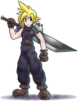 ''Mario+Luigi'' RPG Style: Cloud Strife (FFVII) by Master-Rainbow