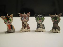 Cat charms, group 2 by Blazesnbreezes