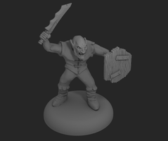 Goblin Miniature Sculpt by o0Tasker0o