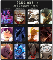 2015 Summary of Art by DragginCat