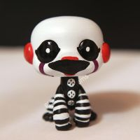 Marionette / Puppet from FNAF2 inspired LPS custom by pia-chu