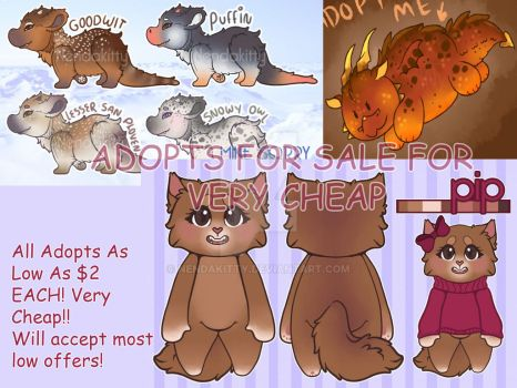Cheap Adopts! gotta pay my phone bill! by Nendakitty