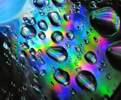 Iridescent Droplets by Anachronist84