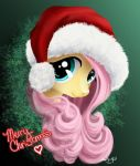 Merry Christmas from Fluttershy by PaintedHoofprints