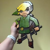 Windwaker Link Wooden Lasercut Wall Art by Athey