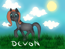 Devon as a pony xD by DelennOfMir