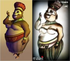The Voodoo Lady Comparisson by nerdsharpie