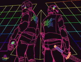 IRON PUNK / DAFT NINJA by reyyyyy