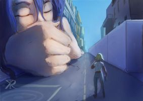 Theres-a-giant-woman-sleeping-on-the-street by Raikoh-illust