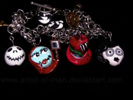 Commission-Tim Burton Bracelet by KT-Silver