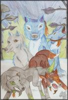 All my wolves by BlackDragon07