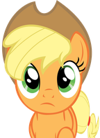 Applejack, hoofing it. by KestrelElk