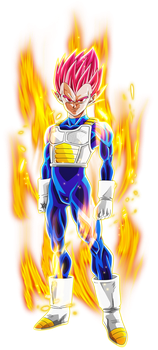 Super Saiyan God Vegeta #1 [Aura] by AubreiPrince