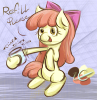 Apple Bloom needs a Refill by LiraCrown