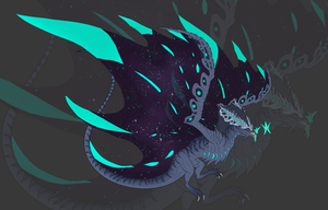 Starveryn Star Wyvern by DelusionalPuffball