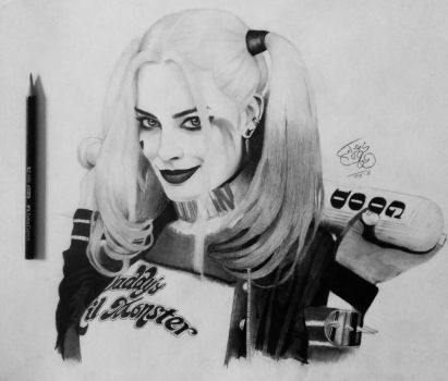 Harley Quinn Suicide squad by Mahmoud-Azzam
