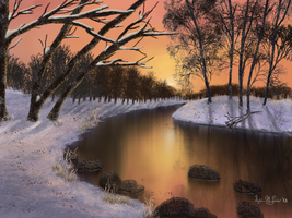 Winter Sunset by Sillybilly60