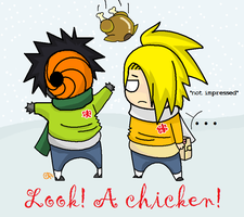 OMFG A CHICKEN by FancyPancakes