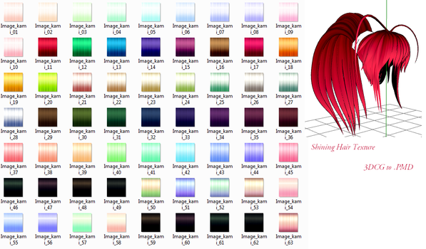 MMD- Shining Hair Texture DL by MMDFakewings18