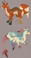 (OPEN) Aquatic Canid Adopts [updated] by TratserEnoyreve