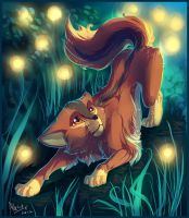 - A cat wandering into forest - by AllesiaTheHedge