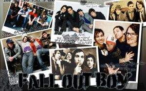 Fall Out Boy Polariod Collage by ADistantLullaby131