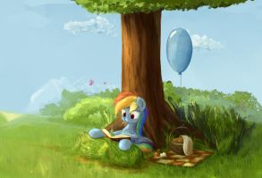 Reading Dashie (Quest: find m6) by ScootieBloom