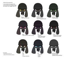 Black Unusual Emotion Chart by 8feet