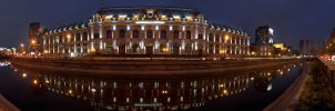 Bucharest Courthouse Panoramic by ScorpionEntity