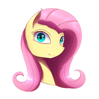 Fluttershy head practice by Laptop-pone