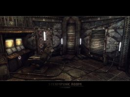 Steampunk Room by GeneralPeer