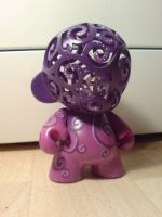 Munny Purple Spirals by Catzombies