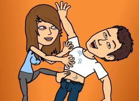 Bitstrips - Tickle Party by castleoffeet