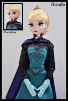 repainted ooak coronation LE elsa doll. by verirrtesIrrlicht