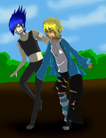 Zeise and Alex Race :Collab: by DraconaVampira