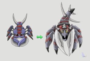 Prehistoric Arachnid Pokemon by werepenguin