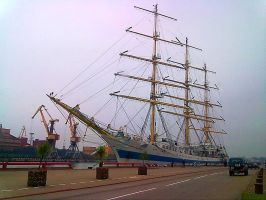 The Ship at the port of Ventspils by Darta007