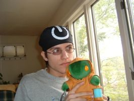 Me with Barry the Tonberry by Ansem87