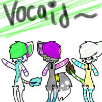 My vocaloid cats by GaiaTheGoat