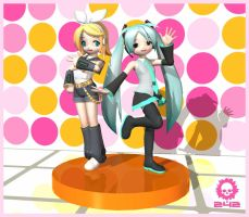 Vocaloid - Rin and Miku by craneo242