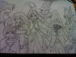 Final Fantasy IX Characters by LunaCat12