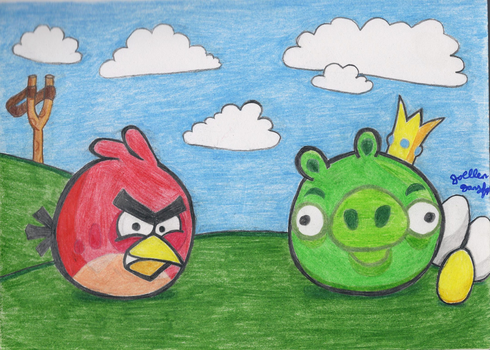 Angry Birds by jojomudkip