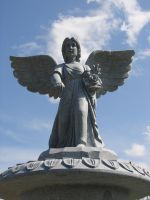 Overhead Stone Angel Statue by FantasyStock