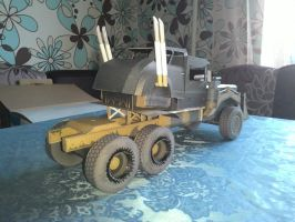 War Rig (Mad Max: Fury Road) Paper Model by BHAAD