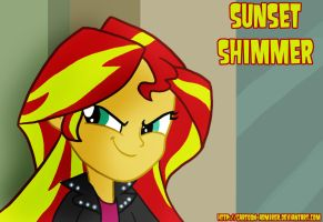 Sunset Shimmer Smirk by Cartoon-Admirer