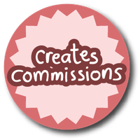 profile stickers - creates commissions pastel pink by iAmAneleBiscarra